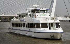 Boot huren Rotterdam. Partyboot Smaragd 1