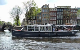 Boat rental Amsterdam. Saloon boat Sofia