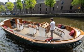 Boot huren Amsterdam. Sloep Hannekes Boot