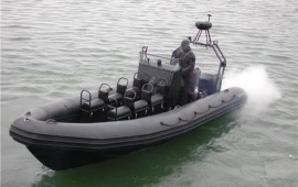Boot huren Schevenigen. Speedboot Rib IV - 250PK